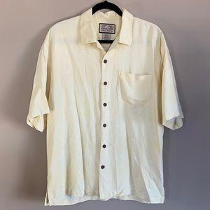 Jamaica Jaxx 100% Silk Short Sleeve Button Shirt